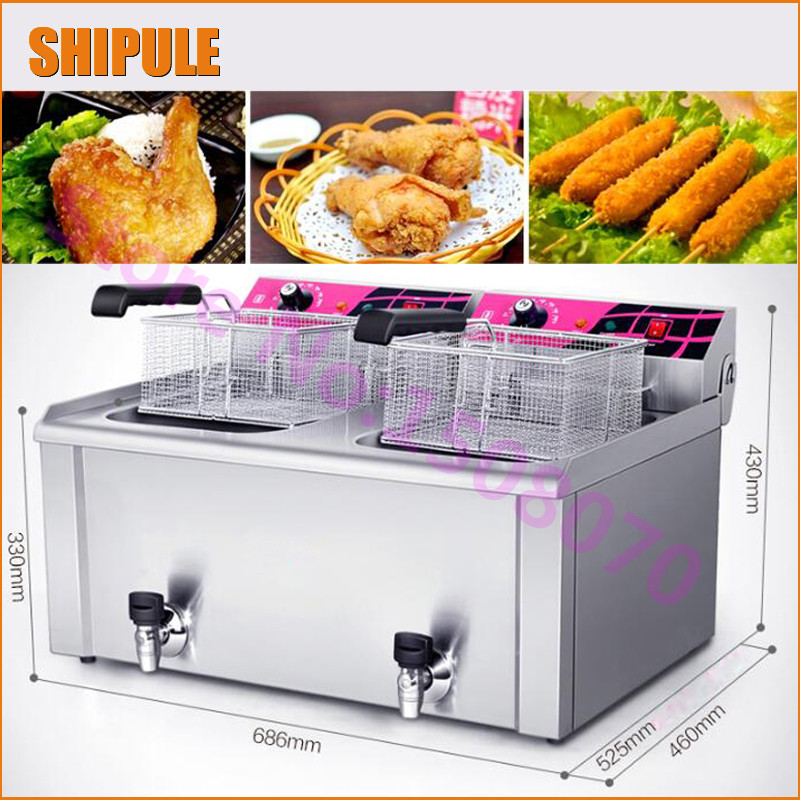 2017 New arrival commercial electric used deep fryer machine chicken fryer machine potato chips fryer machine price 220v electric deep fryer 8l commercial air fryer potato chip french fries chicken fryer