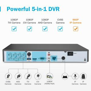 Image 5 - Annke H.265 4K 8CH Ultra Hd Cctv Surveillance Dvr 5IN1 Digitale Video Recorder Bewegingsdetectie Voor 5MP 8MP Analoge ip Camera
