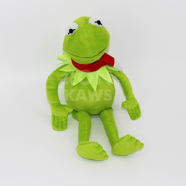 RON KAWS Ty Toy Kermit the Frog Plush Toy The Muppet Show Sesame Street  Character Clothes  Steel Wire Can Make Pose d685af16b94