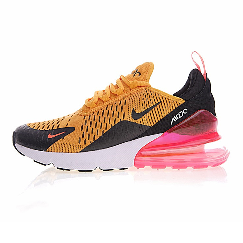 low priced b1ab7 23234 Nike AIR MAX 270 Women s Running Shoes, Yellow Pink, Shock Absorption Non  slip Wear resisting Lightweight Sport Sneakers Shoes-in Running Shoes from  Sports ...