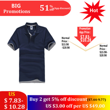 New Plus Size Brand Men's Polo Shirt Men Cotton Short Sleeve Shirt Classic Jerseys Men Tops Casual Stand Collar Male Polo Shirt