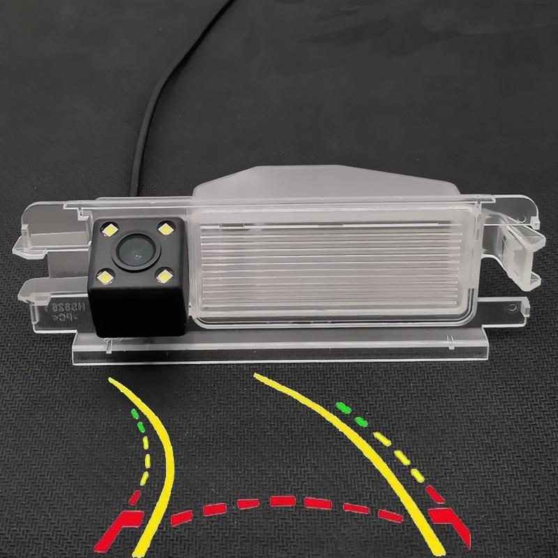Trajetória dinâmica inteligente faixas hd câmera de visão traseira do carro para renault dacia duster pulso clio 2 logan sandero stepway