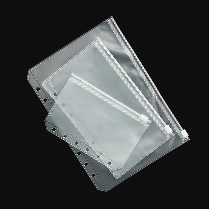 3 PCS Transparent PVC Storage Card Bag For Traveler Notebook Diary Planner Zipper Bag Filing Products