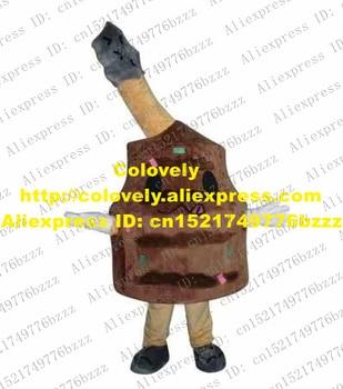 Fantazyjne brązowy Grill kostium maskotka Mascotte pieczenia mięsa Toast BAR-B-Q Bar Drumistick Grill z czarne oczy nr 3889 uwalnia statek