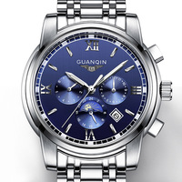 New Fashion Casual Watch Super Slim Watch Men Watches Top Brand GuanQin Auto Mechanical Watch With