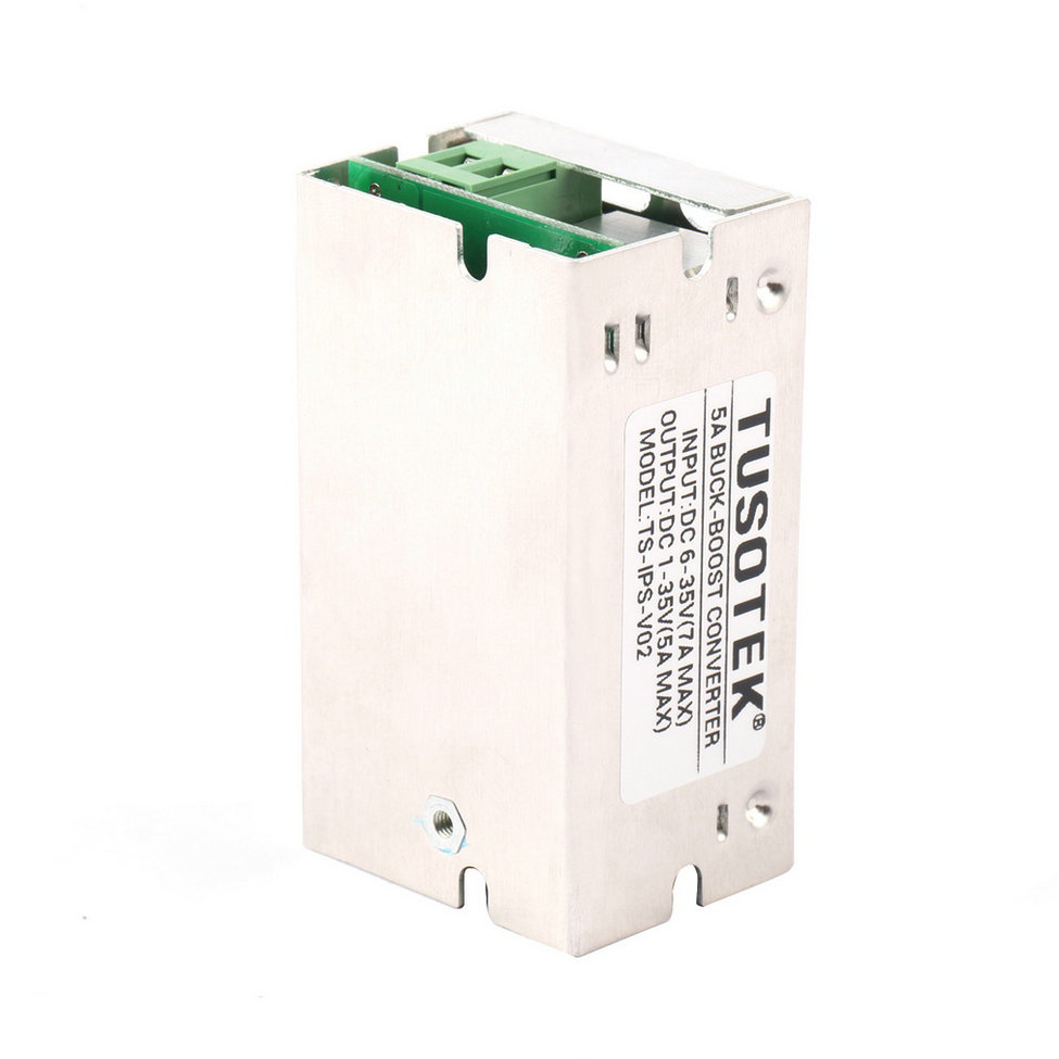 цена на wholesale 6-35V to 1-35V DC/DC Buck/Boost Charger Power Converter Module With Aluminum