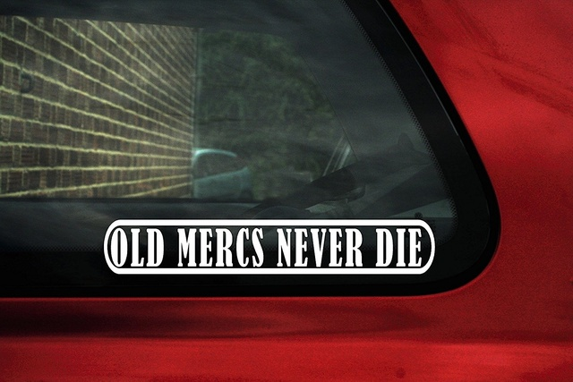 Car styling for old mercs never die funny classic mercedes car sticker decal