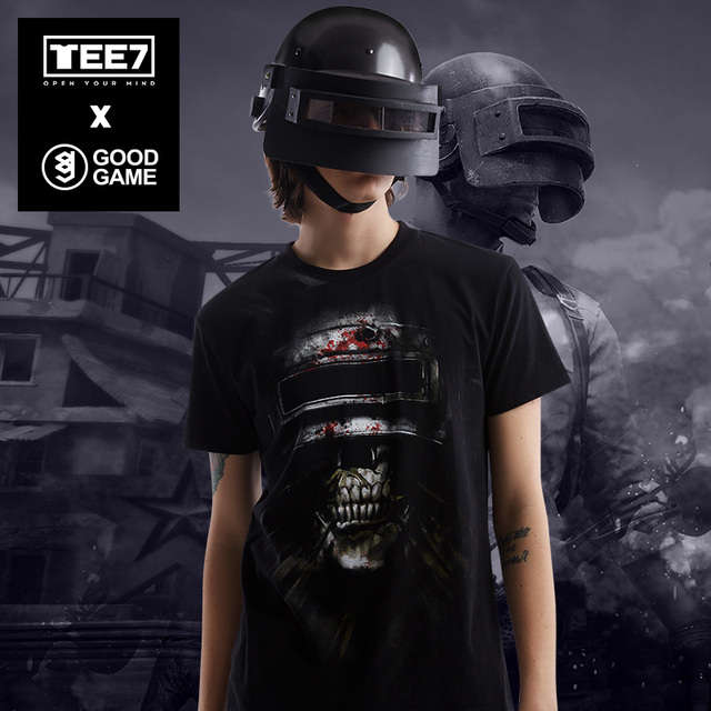 Tee7 Playerunknowns Battlegrounds Helmet Cotton T Shirt Pubg 3d