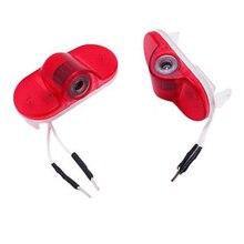 2 шт. светодио дный светодиодные лампы проектора двери автомобиля любезно лазерный логотип для Skoda