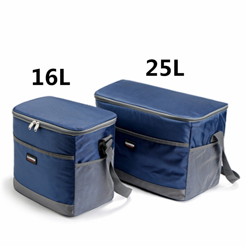 16L/25L Cooler Bag Waterproof Picnic Shoulder Bags For Food Drink Fruit Insulation Thermal Bag Ice Pack ThermaBag Refrigerator