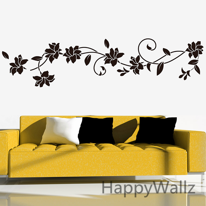 Flower Wall Stickers Beautiful Flower Wall Decal DIY