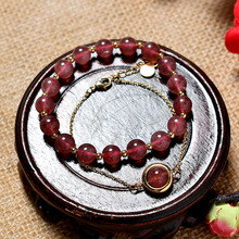 Natural Powder Crystal Hand Jewelry Bracelets Vintage Ball Chain&Link Pearl Bride Fine Obsidian Jade