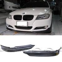 OLOTDI стайлинга автомобилей Передняя сплиттер штук бампера для губ уголок для BMW E90 OEM P Стиль углеродного волокна спереди губ 2 предмета/партия