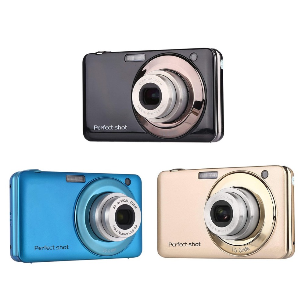 HD 8x Focus zoom Photo enregistrement vidéo appareil Photo numérique 24MP Portable coloré Compact avec JPEG Avi carte SD Anti-secousse enfants cadeaux