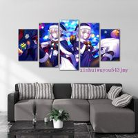 Game Large Framed print poster canvas Fate/Grand Order Jeanne d'Arc 5 pieces