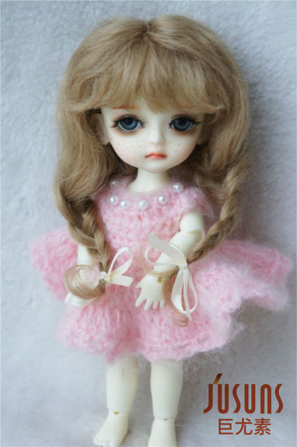 JD2031 1/8 mohair BJD doll wigs  5-6inch  Long Lovly Anna braid wig  Lati yellow doll accessories