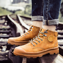 2018 Low-top Martin Boots Mens English Style Student Ankle Winter New with Velvety Korean Version of With Overalls5