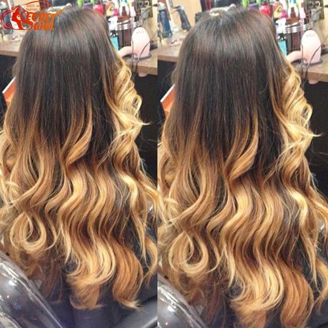 Hotsale Peruvian Body Wave 4 Bundles Ombre 1b 27 Hair Color Two Tone