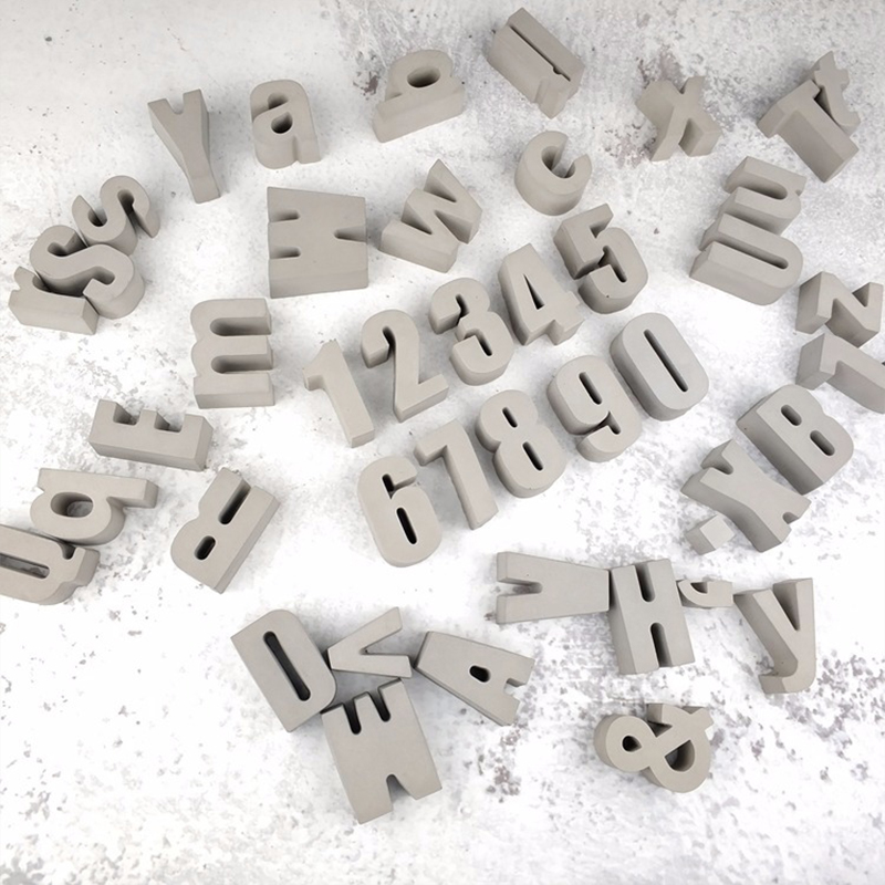 Cement Concrete Creative Wall Decoration Sticking Home Decoration Photo Projects Block Letters Alphabet Wall Letters