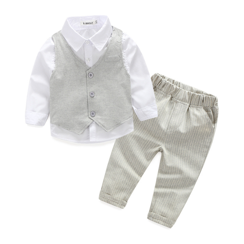 56b95d37004f stable quality 8ee63 be537 baby boy clothes grey pinstripe vest and ...