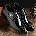 2017 Newest Hot Men'Dress Leather Shoes For Business Wedding Formal Flats,Luxury Style Men Shoes Spring Autumn Male Zapatos G609