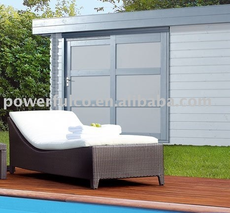 wicker lounger/garden rattan lounger/rattan furniture