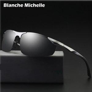 Image 1 - 2018 Алюминий алюминиево магниевого сплава, солнцезащитные очки Для Мужчин Поляризованные UV400 вождения Ночное видение очки спортивные солнцезащитные очки oculos de sol masculino с коробкой