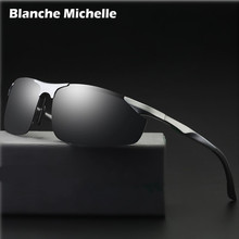 2019 Aluminum Magnesium Sunglasses Men Polarized UV400 Driving Night Vision Goggles Sport Sun Glasses oculos de sol With Box
