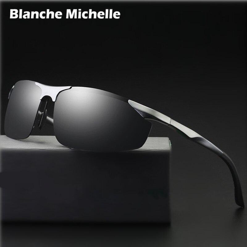 2018 Алюминий алюминиево-магниевого сплава, солнцезащитные очки Для Мужчин Поляризованные UV400 вождения Ночное видение очки спортивные солнц...
