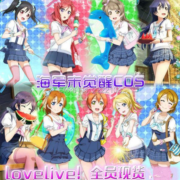 Láska Live Maki Nishikino Yazawa Nico Ayase Eli Tojo Nozomi Kousaka - Kostýmy