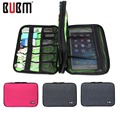 BUBM Fashion Laptop Bag Zipper Organizer System Kit Case Double Layer PC USB Cable Charger Earphone Organizer Storage Travel Bag