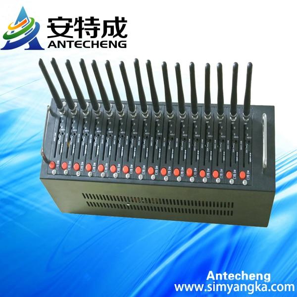 Quad band 16 port modem pool with Q24plus