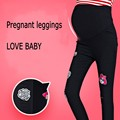 spring 2017 new fashion hole pregnant Leggings women Prop belly pants feet adjustable slim Maternity Pants
