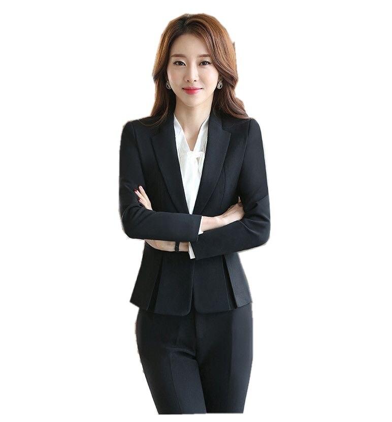 f8376c5a Blazer negro femenino talla grande 3XL chaqueta Formal blanco para mujer  2018 mujer azul mujer traje Oficina señoras en Chaquetas y americanas de La  ropa de ...