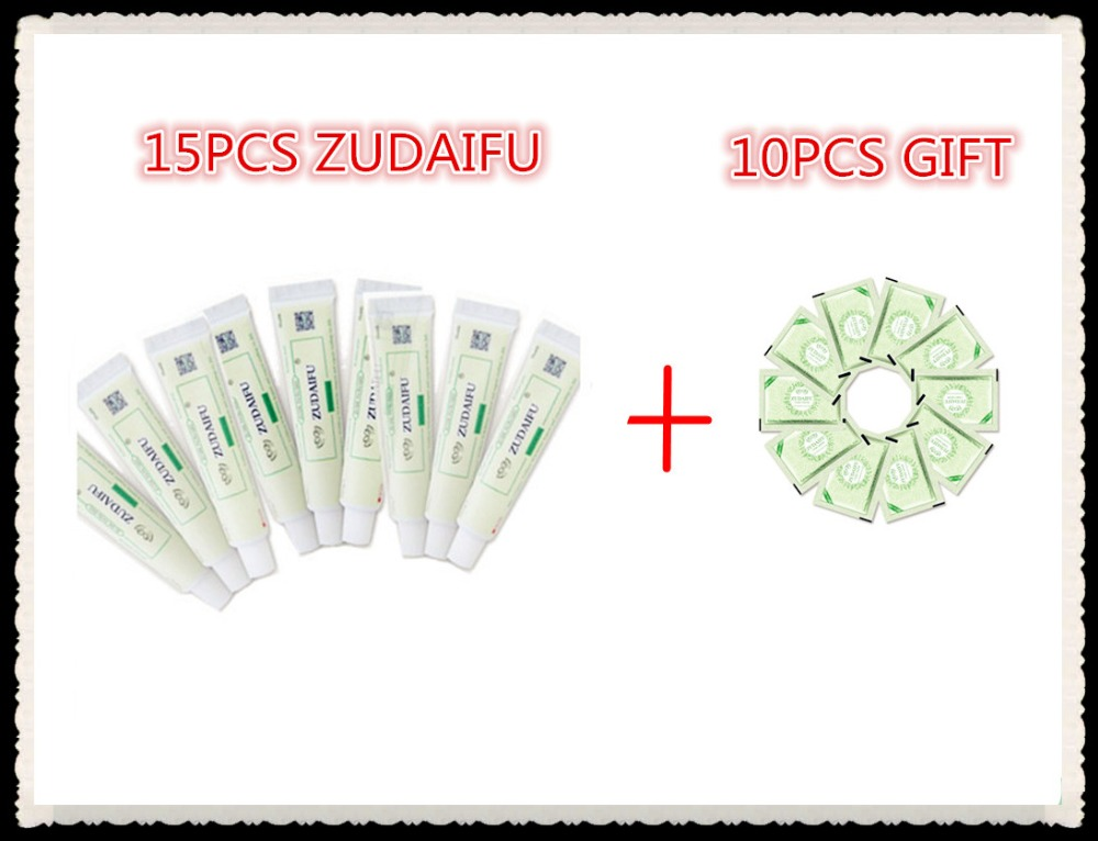 15pcs Zudaifu Body Cream Without Retail Box Men Women Skin Care Product Relieve Psoriasis Dermatitis Eczema Pruritus Effect+GIFT