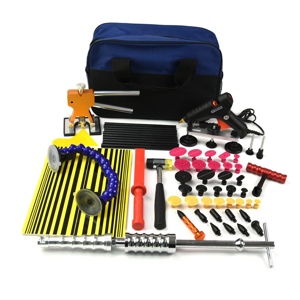 Pdr Tools Paintless Dent Repair Kit Puller Tab Hammer Hail Wiring Harness Glue Removal Lifter Gun Tool