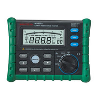 Mastech MS2302 Earth Ground Resistance Tester Digital Megger Insulation Meter LCD Display 100 Groups Data Diagnostic tool 200V