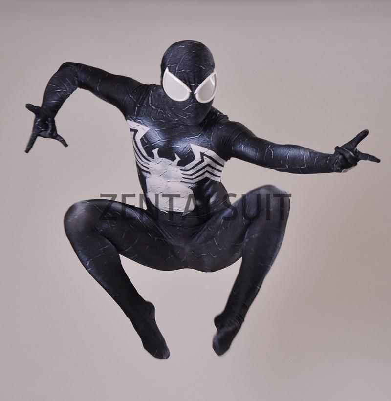 Venom Spider-Man Kostym Spandex 3D Utskrift Svart Venom Symbiote - Maskeradkläder och utklädnad
