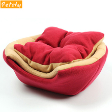 Petshy Foldable Cat Dog Bed House Soft Warm Animal Puppy Cave Sleeping Mat Pad Small Dogs Nest Kennel Cozy Pets Cats Cushion