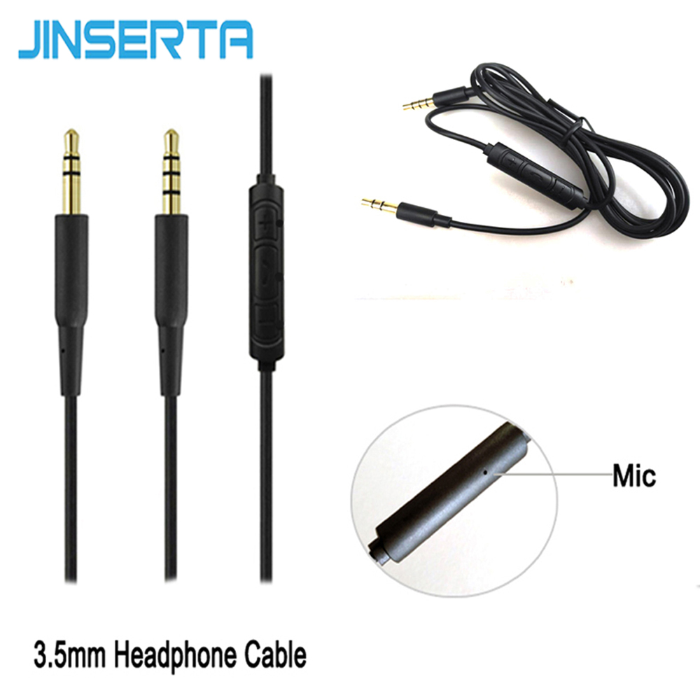 JINSERTA 3.5mm Earphone Audio Cable Replacement Headphone Wire with Mic for iPhone iPad Android Computer replacement earphone jack module for iphone