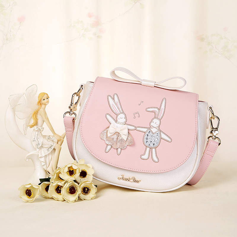 When the new summer 2017 European handbags embroidered patch bangalor adorable fun saddle bow bag all-match. new summer