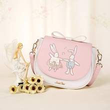 When the new summer 2017 European handbags embroidered patch bangalor adorable fun saddle bow bag all-match.