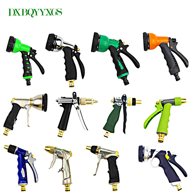 A variety of styles for you to choose from Car spray gun Adjustable mode spraying Garden irrigation portable nozzle water gun