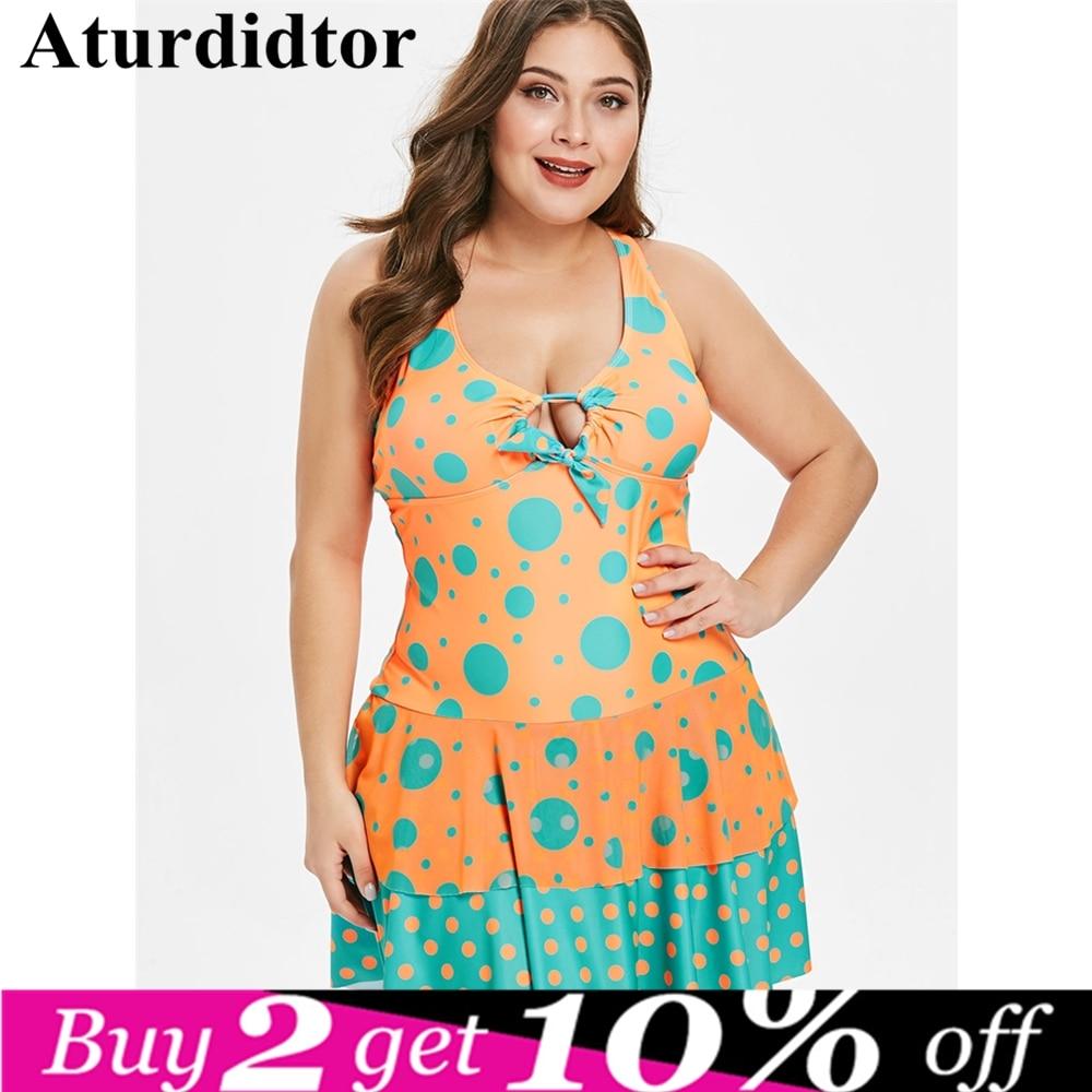 Plus Size Swimsuit Woman 2018 1 One Piece Floral Big Size Bathing Suit Leaf Beach Swimming Wear Vintage Bather Female Swimwear
