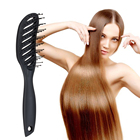 New Small Curved Style Anti-Static Comb Massage Hair Brushes Wet/dry Dual-use Add Matte Texture Handle Styling Tools
