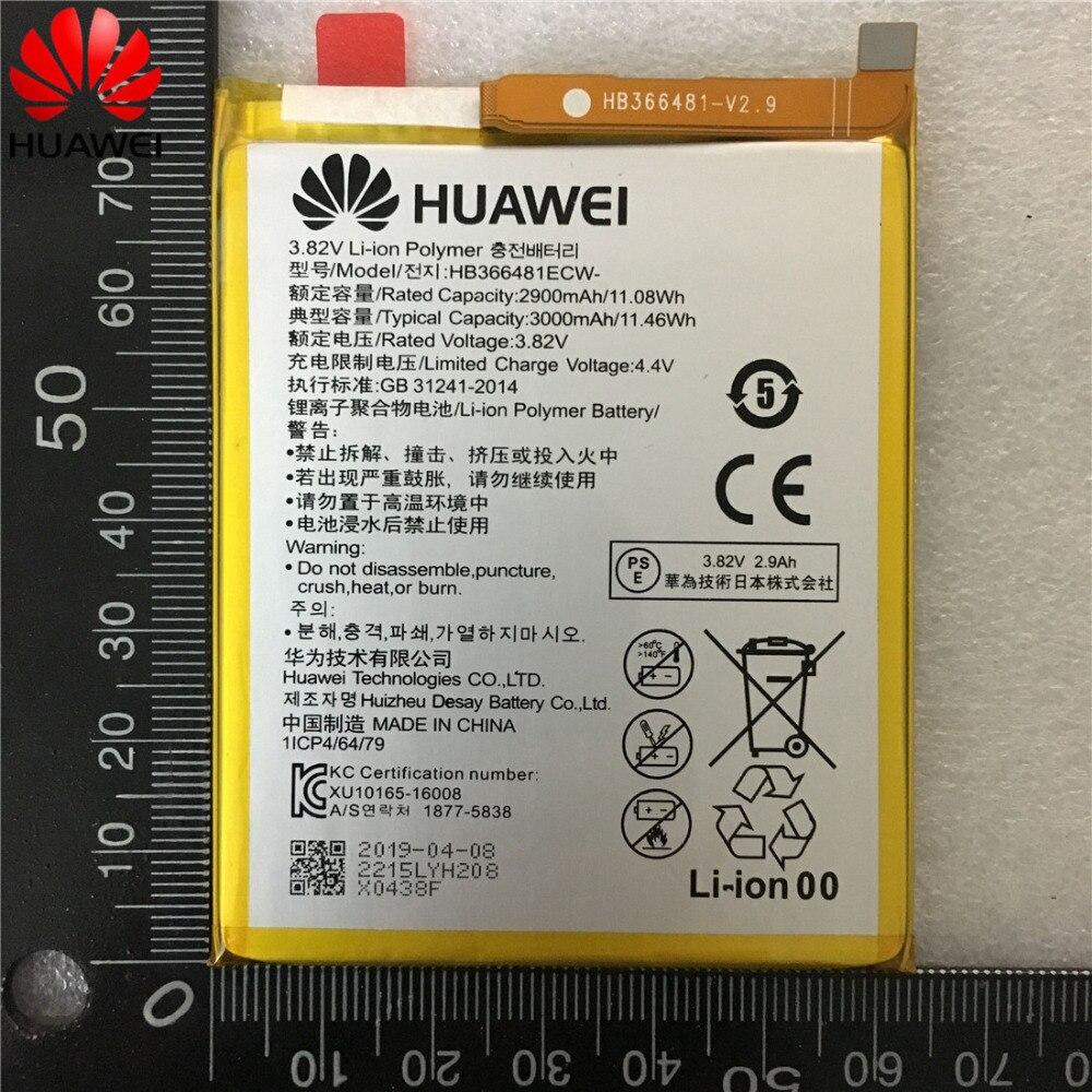 2019 100% original Real 3000mAh HB366481ECW For Huawei p9/p9 lite/honor  8/p10 lite/y6 II/p8 lite 2017 /p20 lite/p9lite battery