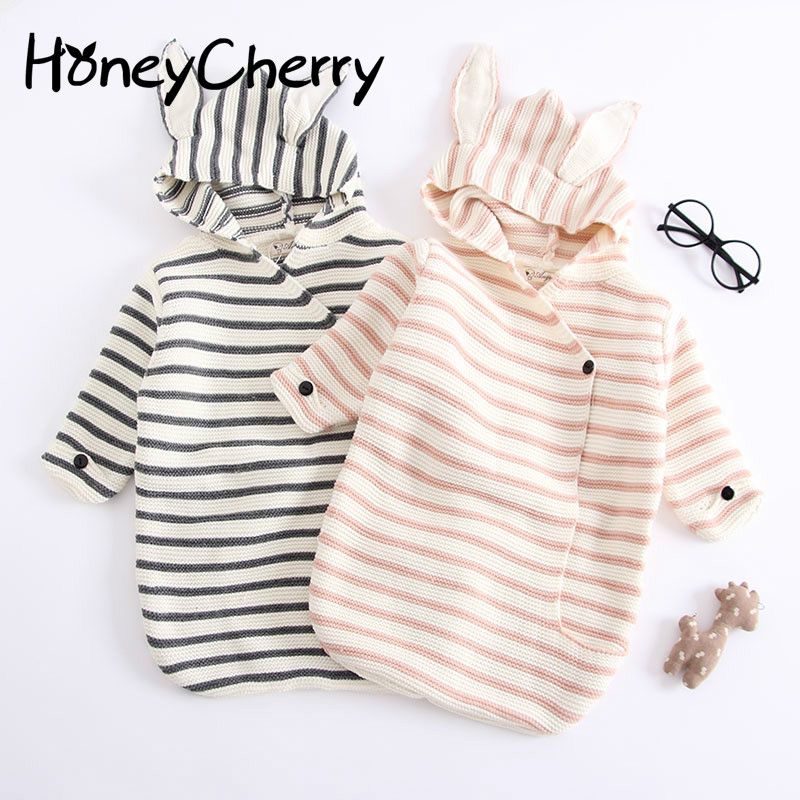 a09767ffb 2018 New Baby Romper Striped Blanket Knitted Quilt Baby sleeping bag ...