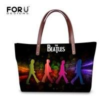 Forudesigns 2017 bolsas bolsos mujeres famosas marcas de rock the beatles mujeres bolsos casuales bolsos de hombro de las señoras bolsos bolsa feminina