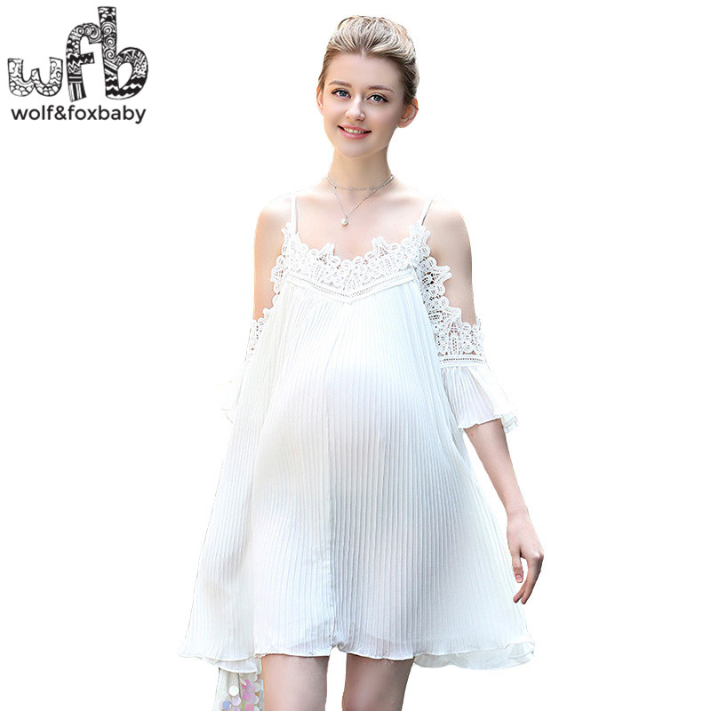 Retail Pregnant women dress Large size Camisole dress solid color Beach pleated skirt summer stylish spaghetti strap solid color open back women s beach dress