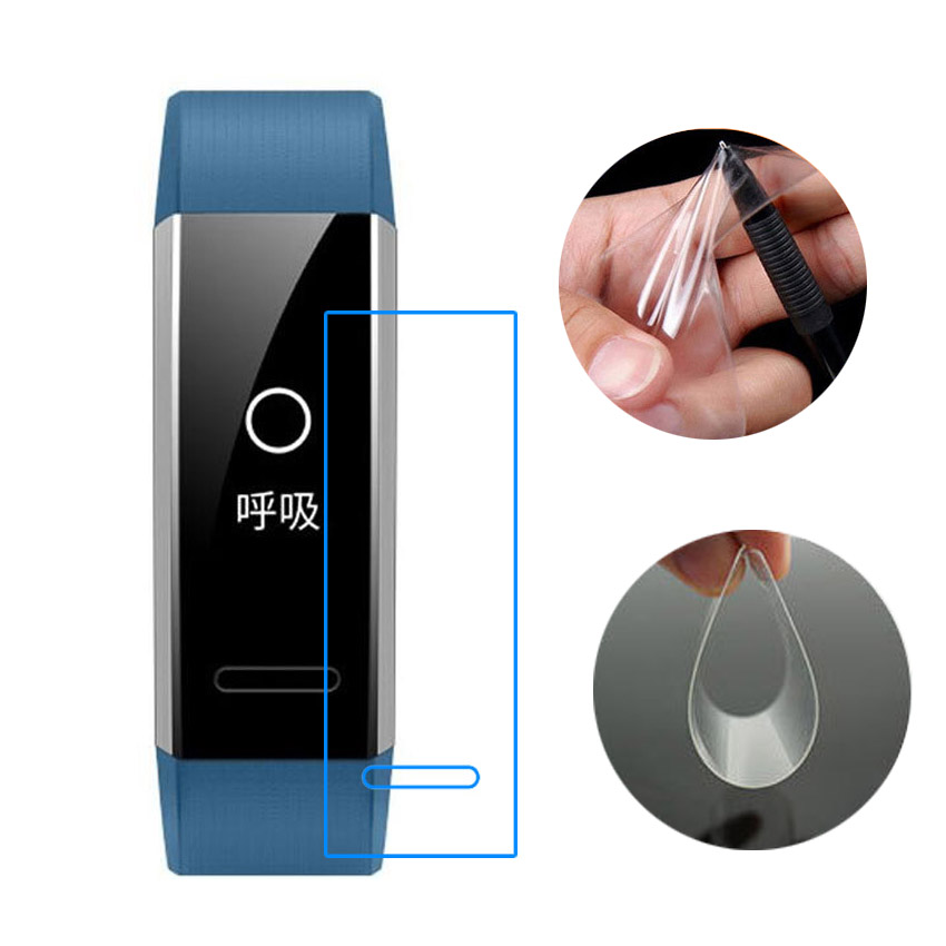For Huawei Eris-B29 Band 2 Pro / B19 B29 Eris Sport GPS Full Screen Protector Anti-Scratch Soft TPU Smart Wristband Film